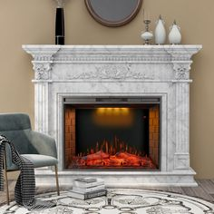 World Menagerie Maker Recessed Electric Fireplace   Wayfair