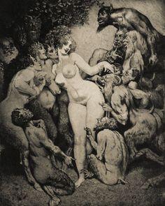 "dazzledent: "" Venus in Arcady by Norman Lindsay (1879-1969). """