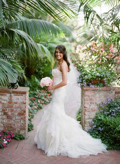 #Bride in Vera Wang #weddingdress Photography by lanedittoe.com  Read more - http://www.stylemepretty.com/2013/09/10/santa-barbara-wedding-from-lane-dittoe-fine-art-photographs/