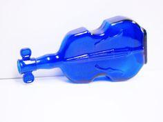VINTAGE Wheaton violin cobalt blue glass by VintageCostumes, $15.00 (01-03-14)