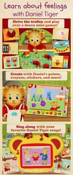 Learn About Feelings from Daniel Tiger - A fun app from PBS Kids #kidsapps