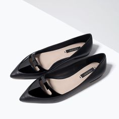 Image 5 of POINTED BALLERINAS WITH BOW from Zara omg SO CUTE! girly, but not overly doing it at all!