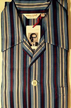 3793659193 Derek Rose Men s Pyjamas Nelson Regimental RAF Stripe Medium 40