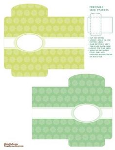 printable seed packets for seeds. This could also be used to package jewelry, hair clips or anything small and delicate. Just add your logo sticker to seal! Printable Box, Printable Recipe Cards, Free Printables, Seed Packet Template, Envelopes, Seed Packaging, Packaging Ideas, Packaging Design, Paper Crafts