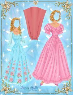 Free Printable Cinderella Paper Dolls by Cory   SKGaleana