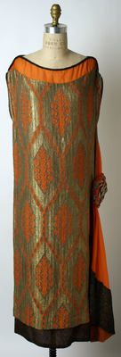 Liberty of London Evening Dress ca. 1920 -1925 silk