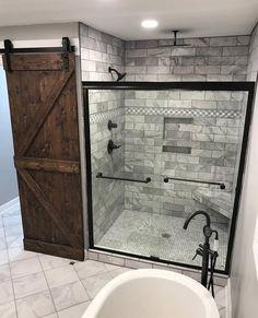Rustic bathrooms 549228117057814517 - Master Bathroom Remodel : Designs, Tips, & Details Source by ashleywinndesign Bathroom Renos, Bathroom Renovations, Home Remodeling, Bathroom Showers, Shower Ideas Bathroom, Bathroom Cabinets, White Bathroom, Basement Bathroom, Barn Bathroom