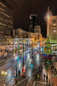 Christmas in Downtown Seattle