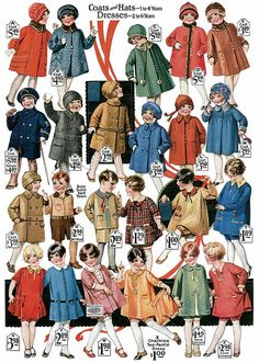 Children's clothing, 1920s