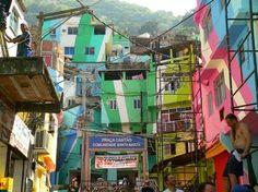 Community-driven art interventions in Vila Cruzeiro, a favela in Rio, Brazil: