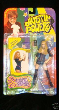 Felicity Shagwell Heather Graham Austin Powers Gun Flag I D Cool New Yah Baby | eBay