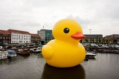 Giant rubber ducky by Florentijn Hofman.  Lots of awesome pictures when you click the link.