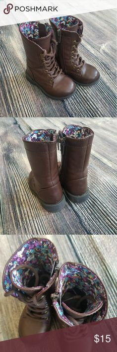 Cherokee girl combat  boots In mint condition.  No scraps or damages . Only worn once.  BUNDLE to receive a better deal!! Cherokee Shoes Boots