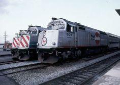 "Caltrain #901 ""San Jose"" - 1998-02-13. Locomotive painted with the ""circle c"" logo."