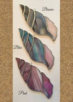 Handmade Stained Glass Large Seashell Suncatcher by QTSG on Etsy