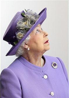 STEVENAGE, ENGLAND - JUNE 14 2012:  Queen Elizabeth II visits a new maternity ward