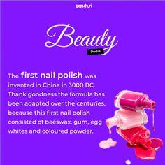 Thanks to technology, imagine if we were still applying beeswax.  #askpankhuri #beautyfacts #didyouknow #didyouknowpage #pankhuribride #bridetobe #brides #fashion #beautyessentials #nail #nails #nailpolish #nailpolishlover #nailpolishaddicts #nailpolishaddicted Beauty Essentials, Inventions, Brides, Nail Polish, How To Apply, Facts, Good Things, Technology, Fashion