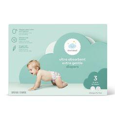 Oki Doki, Cloud Island, Diaper Sizes, Baby Lotion, Diaper Rash, Target, Branding, Baby Skin, Social Media Design