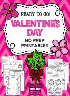 Valentine's Day NO PREP Printables! Need some fun and educational Valentine's Day sheets that are ready to use? This pack is perfect for your class.
