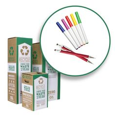 Zero Waste Box™ Recycling System - Pens, Pencils and Markers – TerraCycle Zero Waste Boxes Recycling Center, Recycling Bins, Waste Solutions, Recycling Information, Eco Friendly Cleaning Products, Wooden Pencils, Hazardous Waste, Green Living Tips