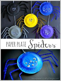 Paper Plate Spiders