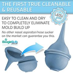 BoogieBulb® - The First True Cleanable & Reusable Baby Nasal Aspirator Syringe - Hospital Medical Grade Nose Suction - No More Wasting Countless Bulbs! - The Ultimate Baby Booger Sucker - BPA FREE - 100% Snot Sucking Satisfaction Guaranteed! BoogieBulb http://www.amazon.com/dp/B00L4MJEC8/ref=cm_sw_r_pi_dp_g31.tb1DC7T9Q