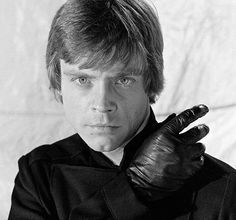 """Luke in """"Jedi"""", along with his black-gloved, right hand."""