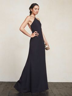 Dresses for summer weddings or also just summer. The Fleur Dress is a full length crepe gown with a high neckline, adjustable straps and an open back. https://www.thereformation.com/products/fleur-dress-black?utm_source=pinterest&utm_medium=organic&utm_campaign=PinterestOwnedPins