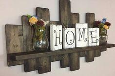 Rustic offset shelf 50W Ebony offset shelves wooden shelves