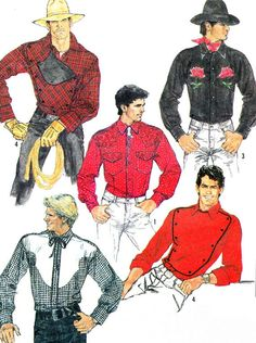 1980s Shirt Pattern Simplicity 8473 Mens Fitted by paneenjerez, $9.00