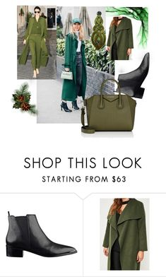 """""""GREEN GIRL"""" by jasmin-ba ❤ liked on Polyvore featuring Missguided and Givenchy"""