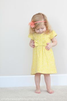 Charlotte's Easter dress-yellow with a side of bow