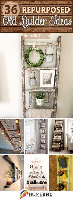 Repurposed Old Ladder Ideas