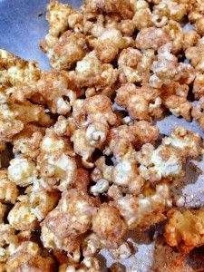 bananas foster popcorn (this original recipe just won 1st place in a gourmet popcorn competition!)