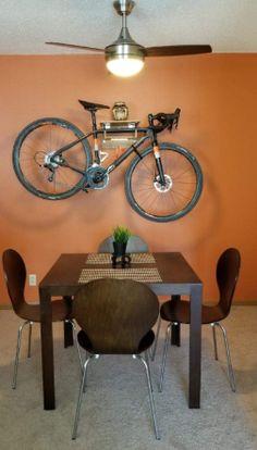 Bamboo Fold-Away Bicyle Mount COR Surf Bike Rack Wall Made with Eco-Friendly Sustainable Bamboo Renewed