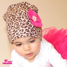 Trendy Baby Girls Cotton  Hat Beanie Leopard Stretch Beautiful Boy Caps Flower Crochet Spring For Childrens 24 Color Accessories
