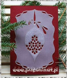 "Photo: kartka pergaminowa ""Bombka"" www.pergaminart.pl '2013 technika pergaminowa / parchment craft"