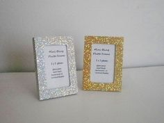 MINI GLITTER FRAME Silver or Gold Glitter by LaurieBCreations