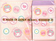 Sanrio My Melody Hearts & Cherries Kawaii Letter Set
