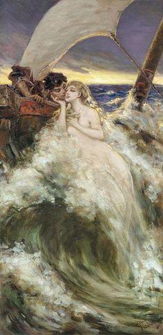 ♒ Mermaids Among Us ♒ art photography paintings of sea sirens water maidens -Vasily Alexandrovich Kotarbinsky