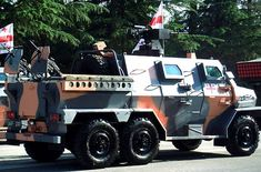 """Didgori-3 (Georgian: დიდგორი-3) is a Georgian 6×6 MRAP type armored personnel carrier developed by the State Scientific Technical Center """"Delta"""". The Didgori-3 was first displayed during a military parade in 2012 and was proposed as patrol vehicle for deployments."""