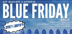 Vapor Joes - Daily Vaping Deals: SIZZLE: MTBAKERVAPOR - 25% OFF ALL JUICE!