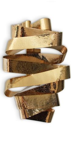 Luxury Designer Jewelry Inspired Gold Ribbon Wall Sconce, Wall Light, Beautiful Custom Made Designs. Perfect for High End Hospitality, Commercial, Maritime & Residential Projects. Enjoy Over 3,500 Modern, Contemporary Designer Inspirations, Now On Line, To Enjoy, Pin & Share. Luxury Furniture, Lighting, Mirrors, Home Decor. Unique Decorating Ideas for Interior Architects, Designers, Decorators & Fans. Be Inspired at: InStyle-Decor.com Beverly Hills New York & London