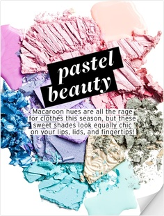 When we need a beauty (of fashion) refresh, we turn to Who What Wear. Just in time for spring celebrations, they have assembled a Pastel Beauty guide. Ready, set, primp.
