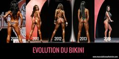 L'évolution du Bikini depuis 2010 en images | Musculation au féminin
