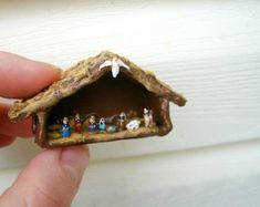 Miniature Nativity made from Grains of Rice by FancyFaylene
