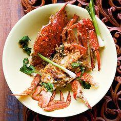 Krebse mit indischem Currypulver (Bpuh Phong Carri)