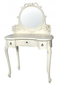 Painted Kidney Dressing Table Antique White French Shabby Vintage Style Chic