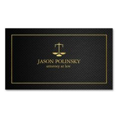 Elegant Black and Gold Attorney At Law Business Card Templates. This great business card design is available for customization. All text style, colors, sizes can be modified to fit your needs. Just cl (Elegant Business Card Gold) Lawyer Business Card, Luxury Business Cards, Real Estate Business Cards, Elegant Business Cards, Cool Business Cards, Professional Business Cards, Business Card Design, Lawyer Logo, Visiting Card Design