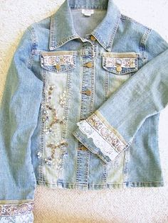 Maison Decor: Add some bling to a jean jacket. One day when I have more time, Im gonna revamp my jean jacket with some bling!